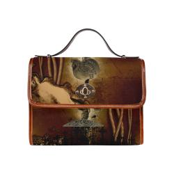 Mechanical skull Waterproof Canvas Bag/All Over Print (Model 1641)