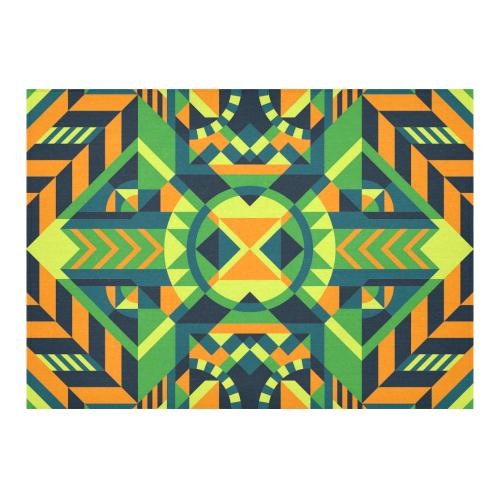 "Modern Geometric Pattern Cotton Linen Tablecloth 60""x 84"""