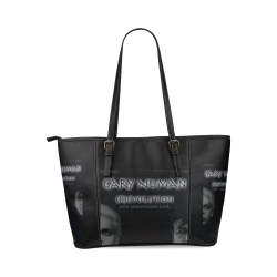 Gary Numan Revolution Bag Leather Tote Bag/Large (Model 1640)