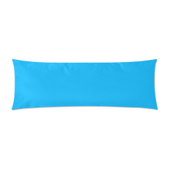"""Neon Sky Blue Custom Zippered Pillow Case 21""""x60""""(Two Sides)"""
