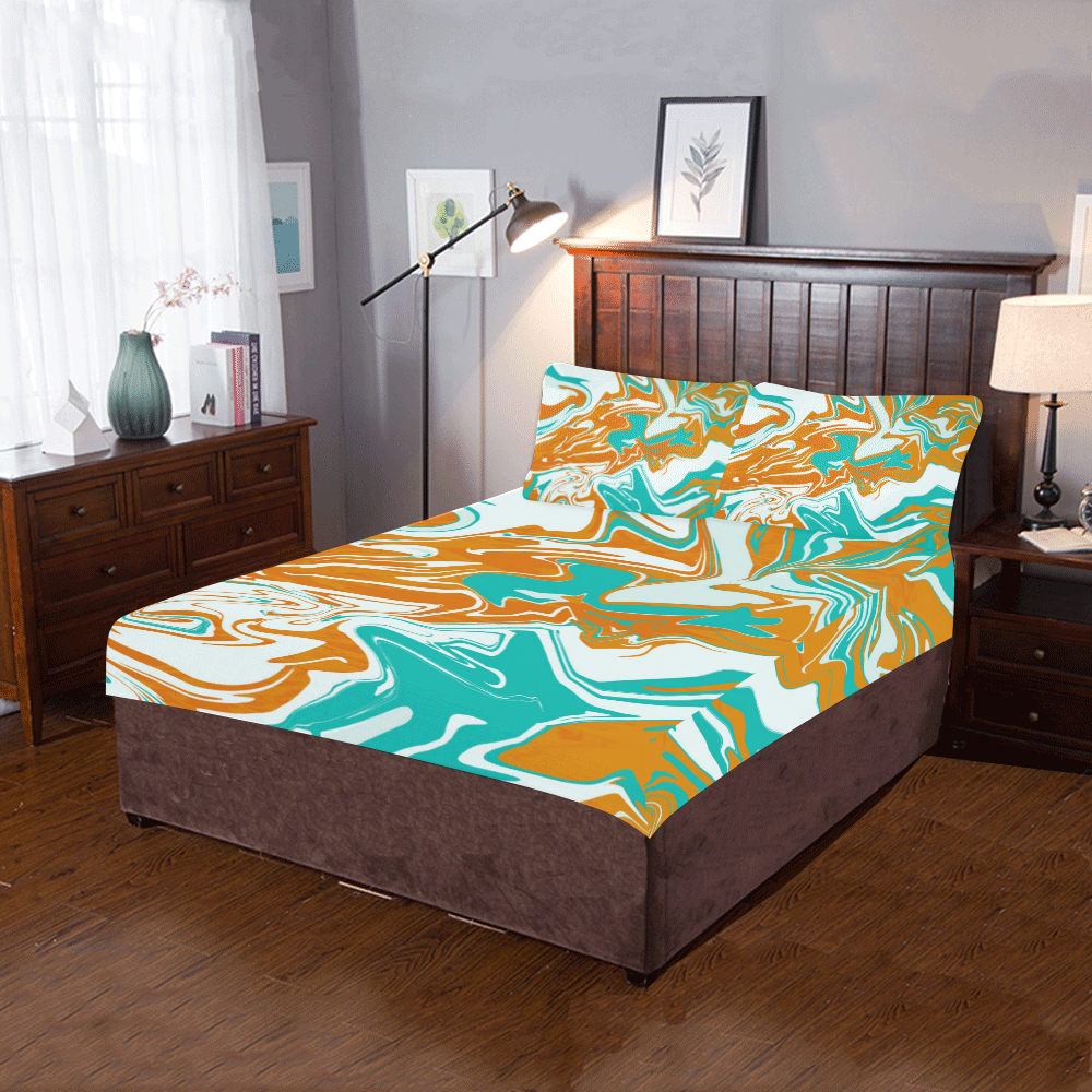 Tawny Green Iceberg 3-Piece Bedding Set