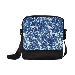 Digital Blue Camouflage Crossbody Nylon Bags (Model 1633)