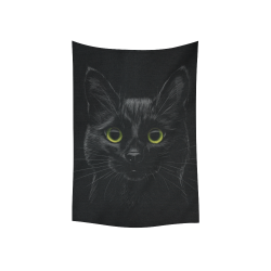 "Black Cat Cotton Linen Wall Tapestry 40""x 60"""