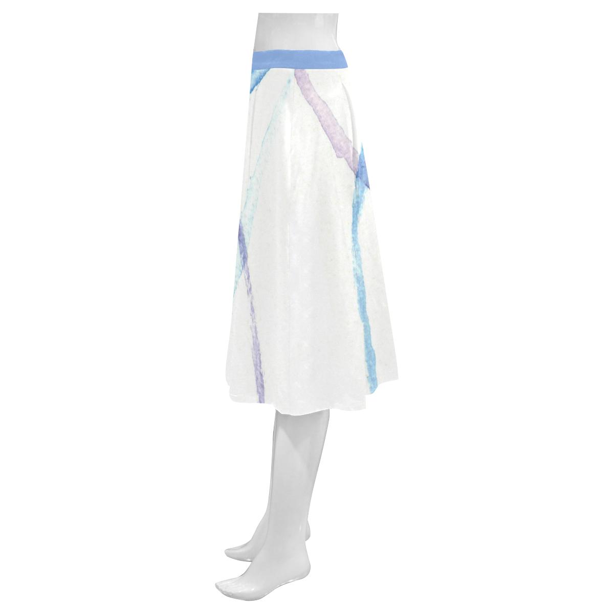 Lines Mnemosyne Women's Crepe Skirt (Model D16)
