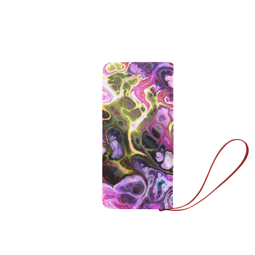 Colorful Marble Design Women's Clutch Wallet (Model 1637)