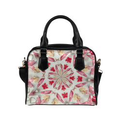 Love and Romance Gingham and Heart Shapped Cookies Shoulder Handbag (Model 1634)