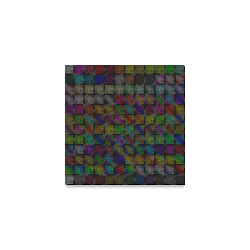 """Ripped SpaceTime Stripes Collection Canvas Print 6""""x6"""""""