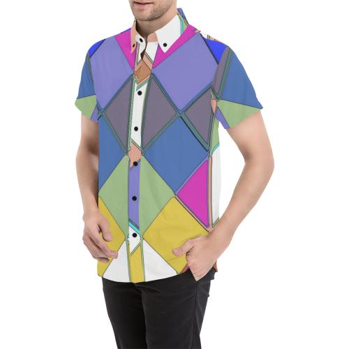 Big Pattern by Artdream Men's All Over Print Short Sleeve Shirt (Model T53)