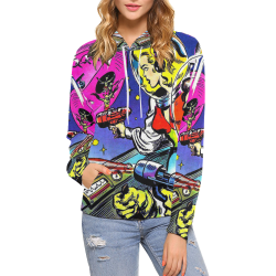 Battle in Space 2 All Over Print Hoodie for Women (USA Size) (Model H13)