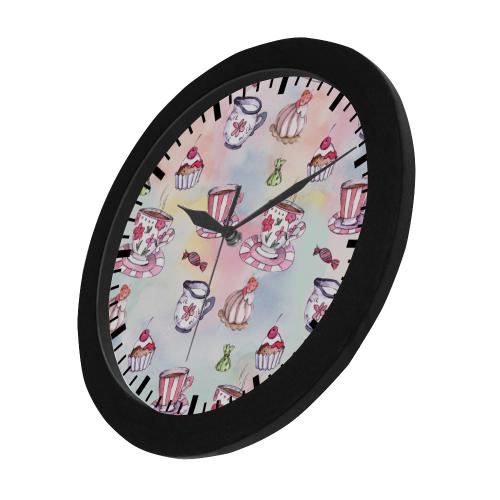 Coffee and sweeets Circular Plastic Wall clock