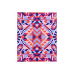 "Modern Geometric Pattern Quilt 40""x50"""
