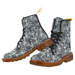 Urban City Black/Gray Digital Camouflage Martin Boots For Women Model 1203H