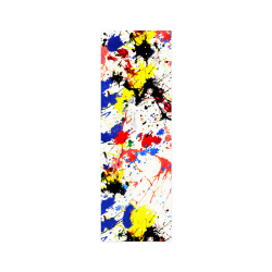 """Blue and Red Paint Splatter Poster 12""""x36"""""""