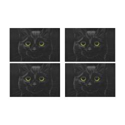Black Cat Placemat 12'' x 18'' (Four Pieces)