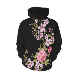 Pure Nature - Summer Of Pink Roses 1 All Over Print Hoodie for Women (USA Size) (Model H13)