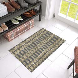 "Flormal Gold seamless design by FlipStylez Designs Azalea Doormat 24"" x 16"" (Sponge Material)"