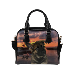 Loki Dog German Shepherd Shoulder Handbag (Model 1634)