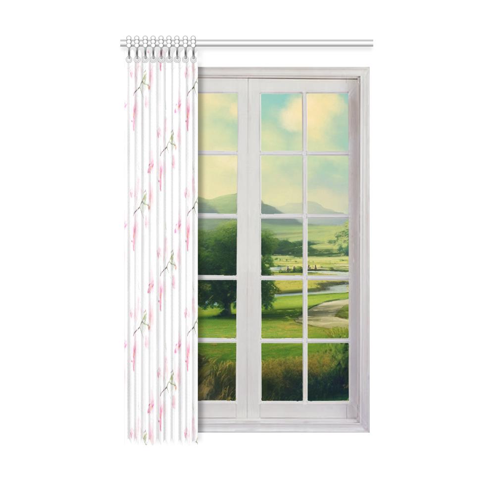 "Pattern Orchidées Window Curtain 52"" x 84""(One Piece)"