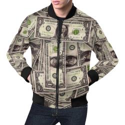 DOLLARS 3 All Over Print Bomber Jacket for Men (Model H19)