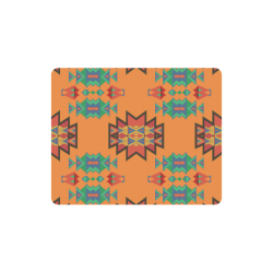 Misc shapes on an orange background Rectangle Mousepad