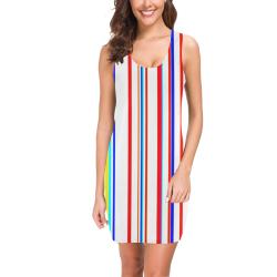 Summer stripes vertical Medea Vest Dress (Model D06)