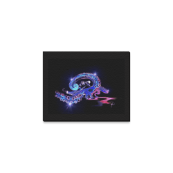 "Blue Octopirate Canvas Print 10""x8"""