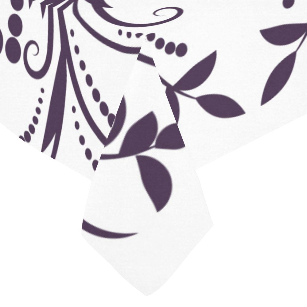 """floral damask Cotton Linen Tablecloth 60""""x 84"""""""