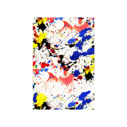 "Blue and Red Paint Splatter Poster 16""x24"""