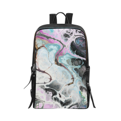 Colorful Marble Design Unisex Slim Backpack (Model 1664)