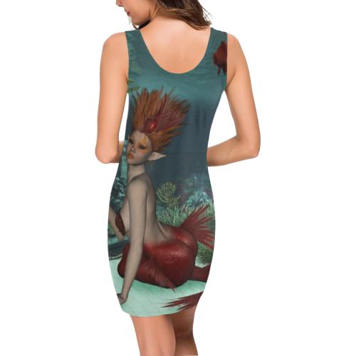 Beautiful mermaid and fantasy fish Medea Vest Dress (Model D06)