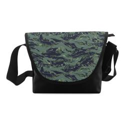 Jungle Tiger Stripe Green Camouflage Crossbody Bag (Model 1631)