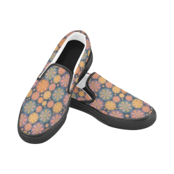 zappwaits 06 - Good afternoon! Women's Slip-on Canvas Shoes (Model 019)