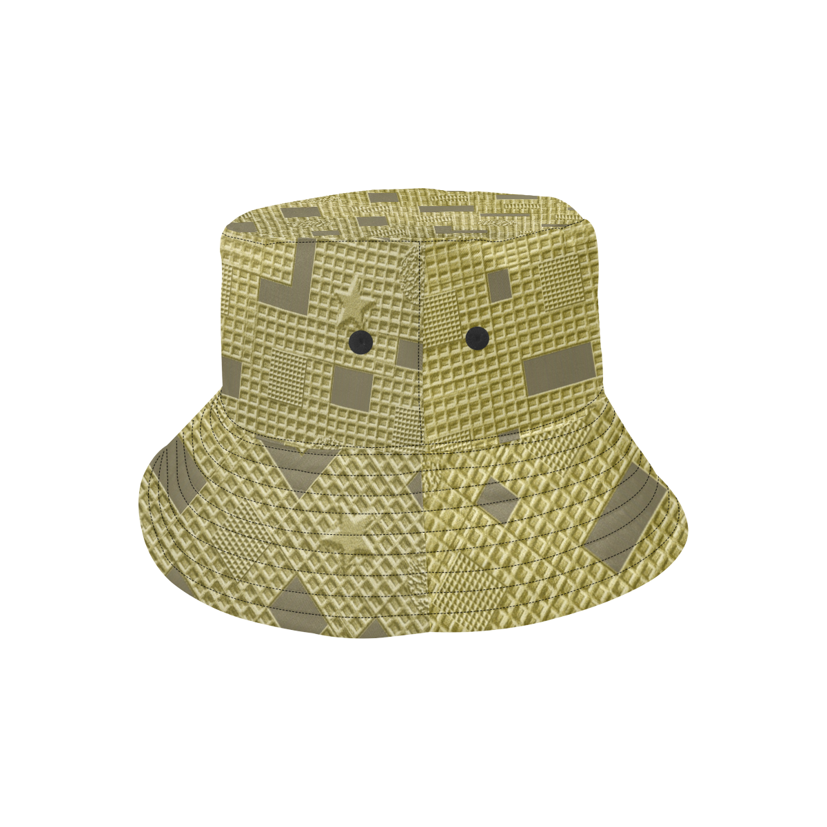 GOLD GEOMETRY LADYLIKE All Over Print Bucket Hat