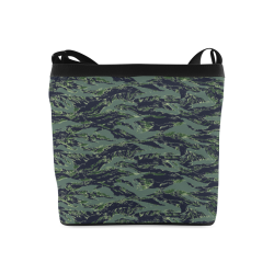Jungle Tiger Stripe Green Camouflage Crossbody Bags (Model 1613)
