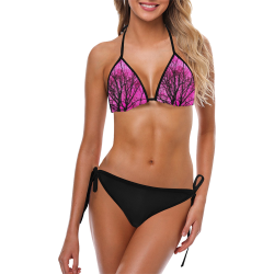 pink tree bikini Custom Bikini Swimsuit (Model S01)