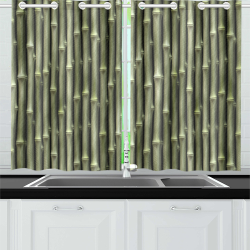 Bamboo forest Kitchen Curtain 26'' X 39''(2 Pieces, 1 Design)