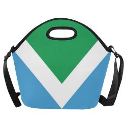 Vegan Flag Neoprene Lunch Bag/Large (Model 1669)