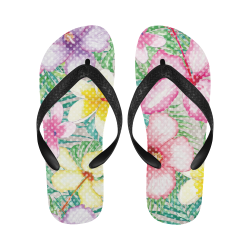 Hawaiian Flowers II Flip Flops for Men/Women (Model 040)