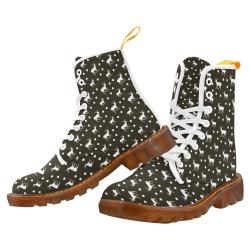 deer dots brown Martin Boots For Women Model 1203H