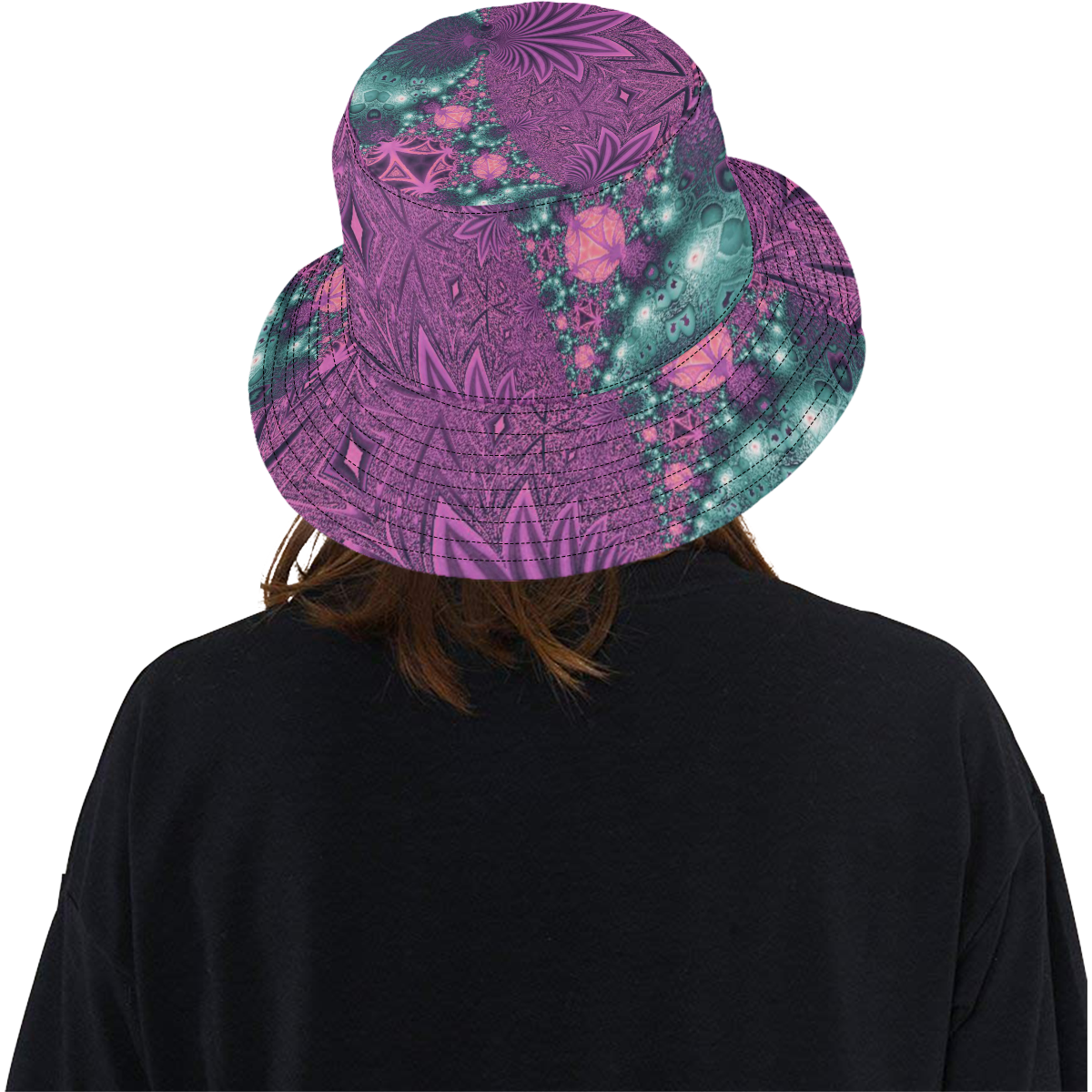 Pastel Jungle Leaves All Over Print Bucket Hat