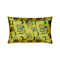 "Pink cornflowers Custom Zippered Pillow Case 16""x24""(One Side Printing)"