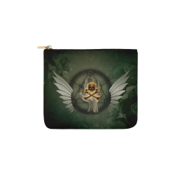Skull in a hand Carry-All Pouch 6''x5''