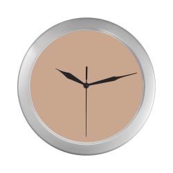 color apricot Silver Color Wall Clock