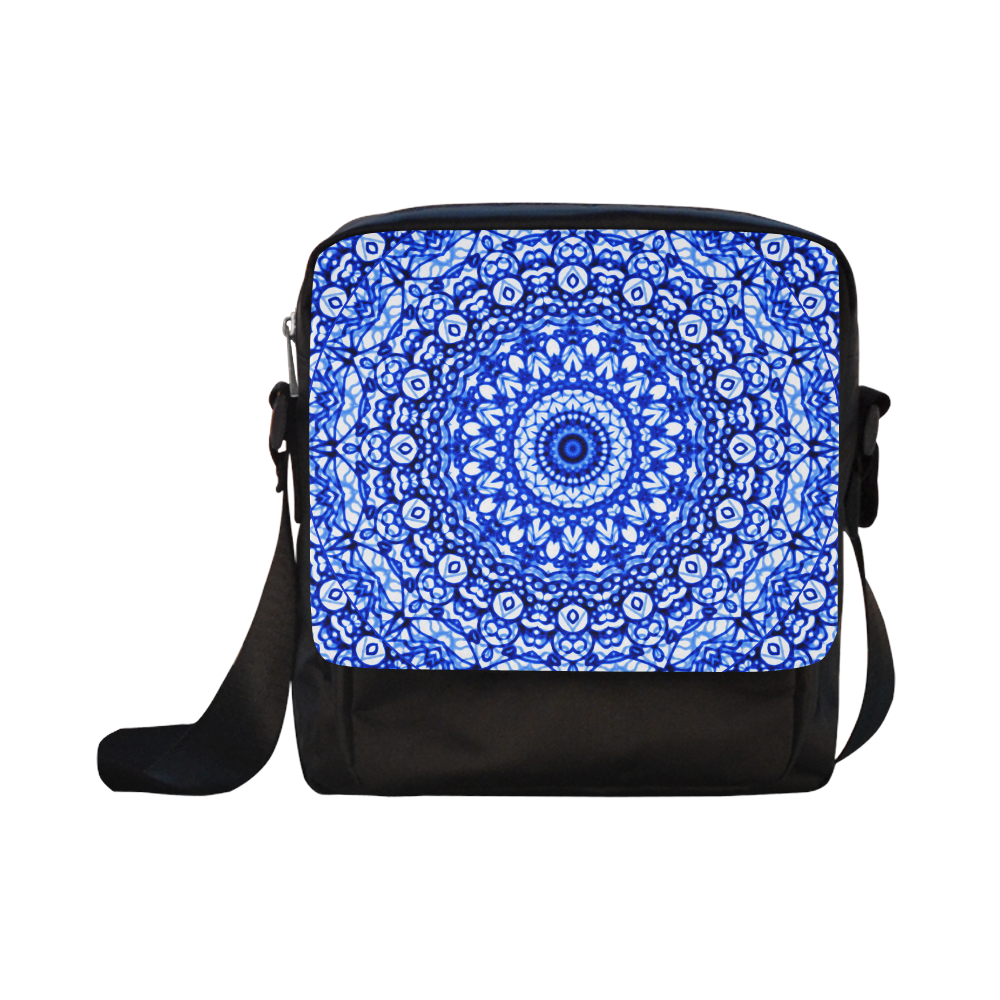 Blue Mandala Mehndi Style G403 Crossbody Nylon Bags (Model 1633)