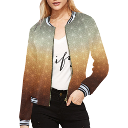 03 FALL All Over Print Bomber Jacket for Women (Model H21)