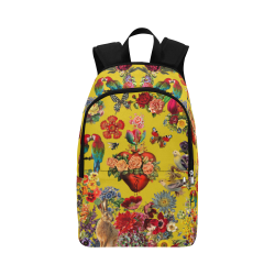 Corazon Honey Mustard Fabric Backpack for Adult (Model 1659)