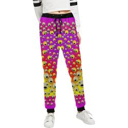 festive music tribute in rainbows Women's All Over Print Sweatpants (Model L11)
