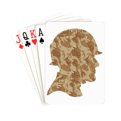 """Desert Camouflage Soldier Playing Cards 2.5""""x3.5"""""""