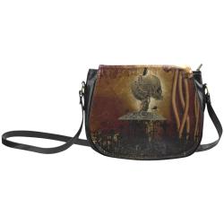 Mechanical skull Classic Saddle Bag/Large (Model 1648)