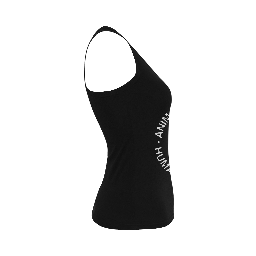 Animal Liberation, Human Liberation Women's Shoulder-Free Tank Top (Model T35)